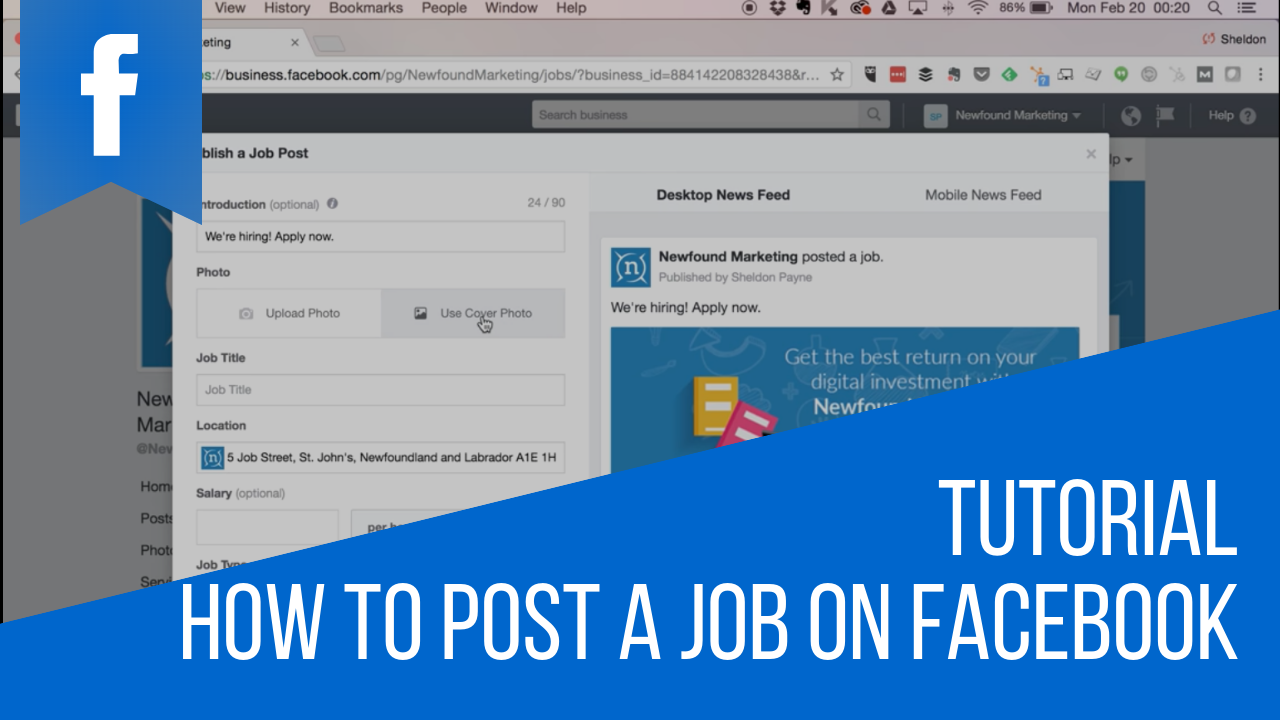 How to Post a Job on Facebook Tutorial